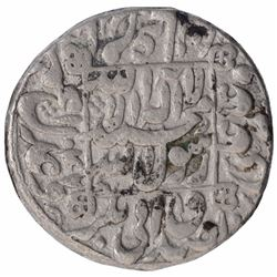 Silver One Rupee Coin of Shahjahan of Patan Deo Mint.