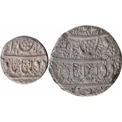 Silver Half Rupee & One Rupee Coins of Shahjahan of Daulatabad Mint.