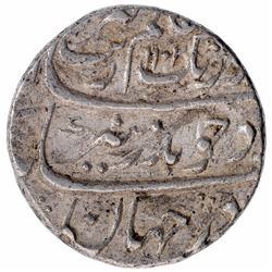 Silver One Rupee Coin of Aurangzeb of Ahmadabad Mint.