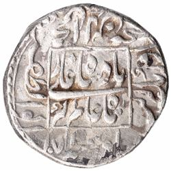 Silver One Rupee Coin of Aurangzeb Alamgir of Akbarabad Mint.