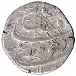 Silver One Rupee Coin of Aurangzeb Alamgir of Rajapur Mint.