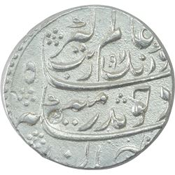 Silver One Rupee Coin of Aurangzeb Alamgir of Sholapur Mint.