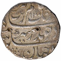 Unique Silver One Rupee Coin of Aurangzeb & Muhammad Shah.