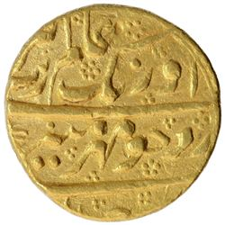 Gold Mohur Coin of Aurangzeb Alamgir of Islamabad Mint.
