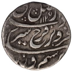 Silver One Rupee Coin of Farrukhsiyar of Peshawar Mint.