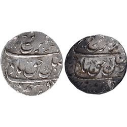 Silver One Rupee Coins of Farrukhsiyar of Surat Mint.