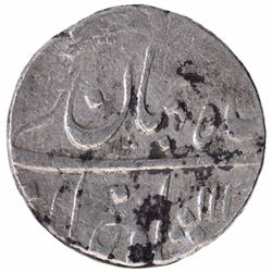 Silver One Rupee Coin of Shah Jahan II of Murshidabad Mint.
