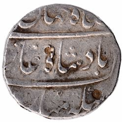 Silver One Rupee Coin of Shah Jahan II of Surat Mint.