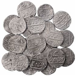 Silver One Rupee Coins of Alamgir II of Different Mints.