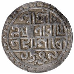 Silver One Tanka Coin of Lakshminarayana of Cooch Behar.
