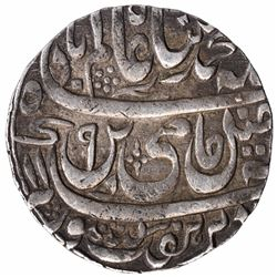 Silver One Rupee Coin of Ahmadnagar Farrukhabad Mint of Farrukhabad Kingdom.