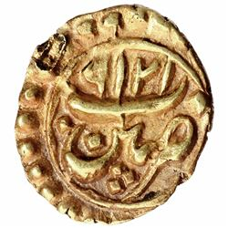 Gold Fanam Coin of Tipu Sultan of Patna Mint of Mysore Kingdom.