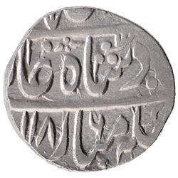 Silver One Rupee Coin of Sambhal Mint of Rohilkhand Kingdom.