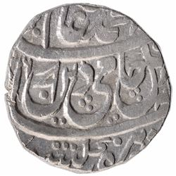 Silver One Rupee Coin of Mohammadnagar Tanda Mint of Awadh State.