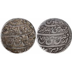 Silver One Rupee Coins of Nasir Ud Din Haider of Lucknow Mint of Awadh State.