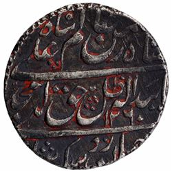 Silver One Rupee Coin of Amjad Ali Shah of Lucknow Mint of Awadh State.