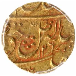 Gold Quarter Ashrafi Coin of Wajid Ali Shah of Lucknow Mint of Awadh State.