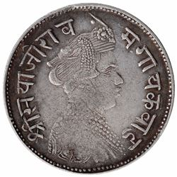 Silver One Rupee Coin of Sayaji Rao III of Baroda State.