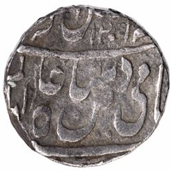 Silver One Rupee Coin of Bhopal State.