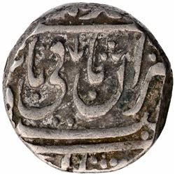 Silver One Rupee Coin of Jankoji Rao of Basoda Mint of Gwalior State.