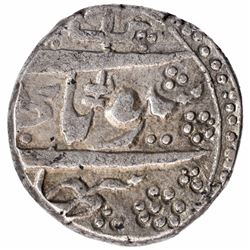 Silver Kham Rupee Coin of Gulab Singh of Srinagar Mint of Kashmir State.