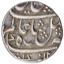 Silver One Rupee Coin of Murshidabad Mint of Bengal Presidency.