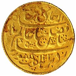 Gold Half Mohur Coin of Murshidabad Mint of Bengal Presidency.