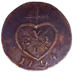 Copper Half Pice Coin of Bombay Presidency.