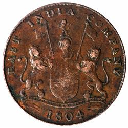 Copper Two Pice Coin of Bombay Presidency.
