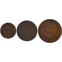 Copper Coins of Bombay Presidency.