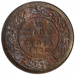Bronze Half Pice Coin of King George V of Calcutta Mint of 1926.
