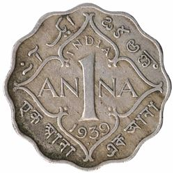 Copper Nickel One Anna Coin of King George VI of Bombay Mint of 1939.