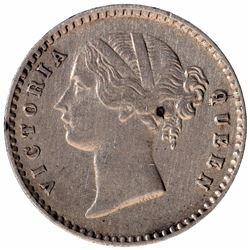 Silver Two Annas Coin of Victoria Queen of Calcutta Mint of 1841.