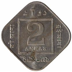 Copper Nickel Two Annas Coin of King George V of Bombay Mint of 1935.