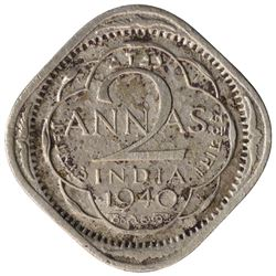 Copper Nickel Two Annas Coin of King George VI of Bombay Mint of 1940.