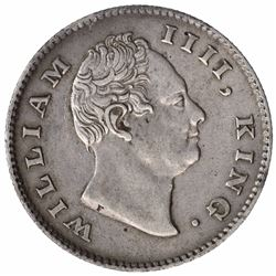 Silver Half Rupee Coin of King William IIII  of Calcutta Mint of 1835.
