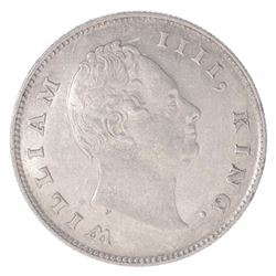 Silver One Rupee Coin of King William IIII of Calcutta Mint of 1835.