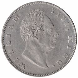 Silver One Rupee Coin of King William IIII of Calcutta Mint of 1835