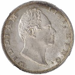 Silver One Rupee of King William IIII of Calcutta Mint of 1835.