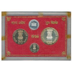 Republic India Proof Set of Bombay Mint of the Year 1986.