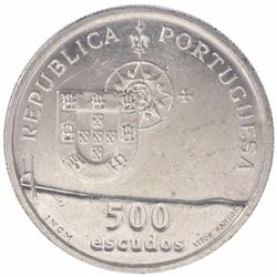 Silver Five Hundred Escudos of Portugal of 1998.