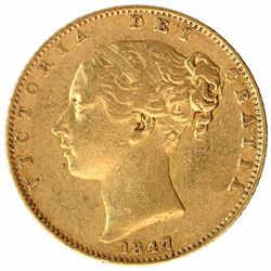Gold Soverign Coin of Queen Victoria of United Kingdom.