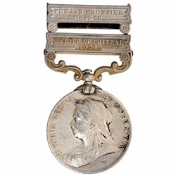 Silver Indian General Service Medal of Queen Victoria of 1895.