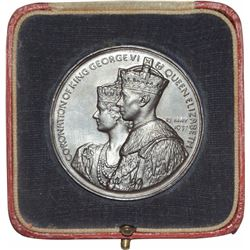 Bronze Coronation Medallion of King George VI & Queen Elizabeth of 1937.