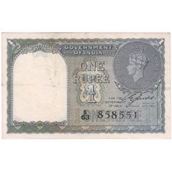 One Rupee Bank Note Signed By C E Jones of King George VI.