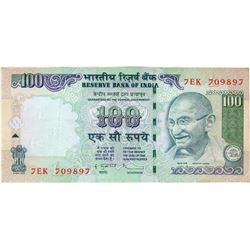 Error 100 Rupees Bank Note Signed By D Subbarao of 2012.