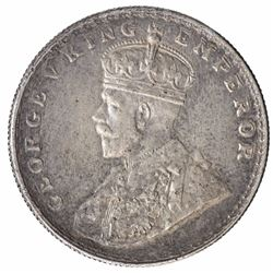Error Silver One Rupee Coin of King George V.