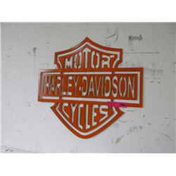 Harley Davidson Cycle Sign
