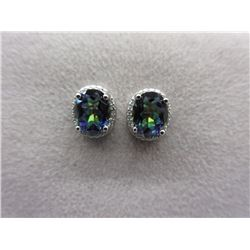 New 5 CT Mystic Topaz & Diamond Earrings
