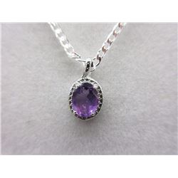Purple Amethyst & Diamond Necklace.